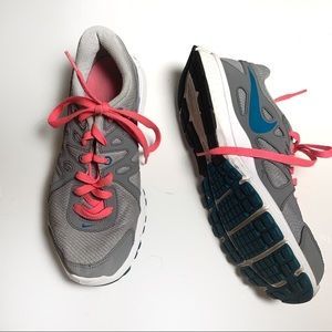 Nike Revolution 2 Hot Pink Turquoise Running Shoes